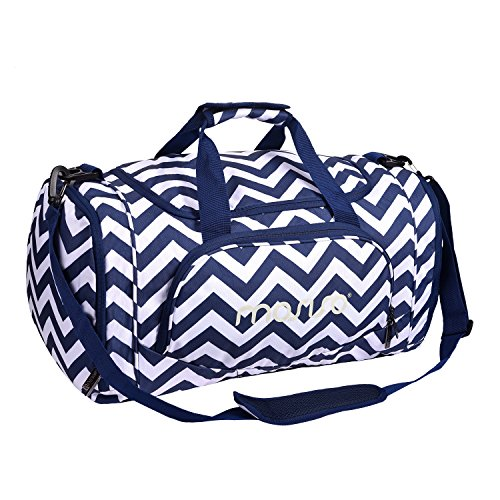 MOSISO Sport Gym Tasche Reisetasche mit vielen Fächern, Schultergurt, Tragegurt Kompatibel Fitness, Sport und Reisen Sporttaschen mit Designs, Chevron Navy Blau