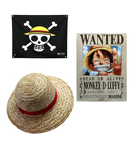 ABYstyle - One Piece - Set Luffy - Sombrero de Paja (tamaño Adulto),