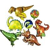 Ánimo Palloncino Dinosauro x 5 più Pallina Dinosauro x 2.Grandi Palloncini per la Festa e L'allestimento di Negozio. Lo Stile Foresta per Festa di Compleanno Eccetera.Tutto in pallocini