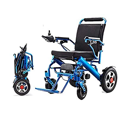 YuCar Lightweight Folding Carry Electric Wheelchair, Portable Lightweight Scooter, Intelligent Safe and Easy to Drive Automatic Wheelchairs