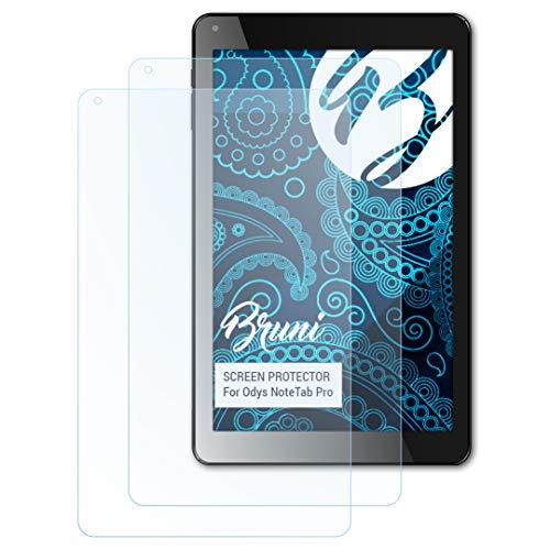 Bruni Schutzfolie kompatibel mit Odys NoteTab Pro Folie, glasklare Bildschirmschutzfolie (2X)