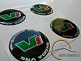 SKODA VRS Satz von 4 Kunststoff Emblem selbstklebende Abzeichen 55mm gelten für Nabenabdeckungen