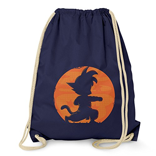 NERDO - Goku Fighting Pose - Turnbeutel, navy