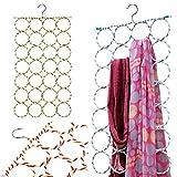#10: LUKZER 28 Ring Shape 7 Layer Hanger for Scarfs (Random Colour)/ Scarf Hanger Ring Shape/Round Shape Scarf Hanger