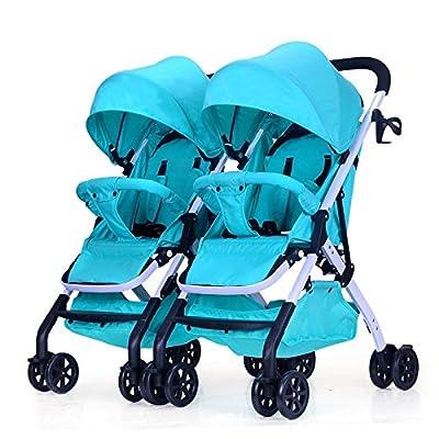 LZTET Travel Systems Twin Baby Cochecito De Luz Desmontable Se Puede Sentar Reclinables Plegables Amortiguadores Segundo Bebé Cochecito Doble BB Car