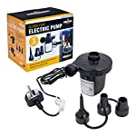 Milestone Camping 83150 Electric Air Pump / Inflate Or Deflate Airbeds, Paddling Pools & Other Toys / AC240V-130W…