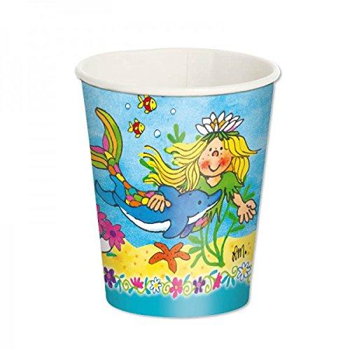 lutz-mauder-11247-set-of-8-sina-mermaid-starfish-party-plates-childrens-birthday-party-mermaid-theme
