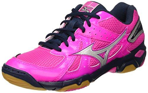 Damen Wave Twister WOS Volleyballschuhe, Pink (Electric/Silver/Dressblues), 40 EU Mizuno