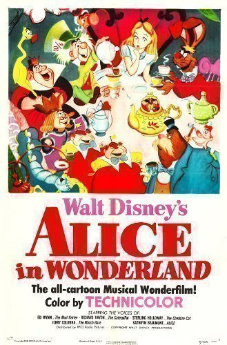Alice In Wonderland Poster Film Vintage Misure A1 A2 A3 A4 - A4