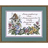 """Dimensions Crafts Flowery Verse Stamped Cross Stitch Kit 14""""X10"""" 3160"""