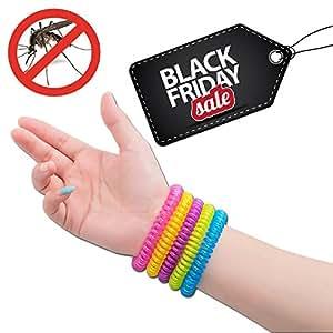 #1 Bracelets anti-moustique par NATURO HOME -paquet/famille de 10 Bracelets- Résistant à l'eau couleur moustiques Bracelets- 100% Naturels Huiles essentielles, sécurises et efficaces de DEET : 2500 heures de protection