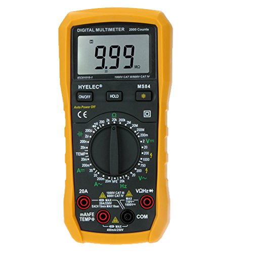 HYELEC MS84 multimetro digitale 2000 Conta AC / DC Resistenza Capacità Temperatura Frequenza tester w / Controluce