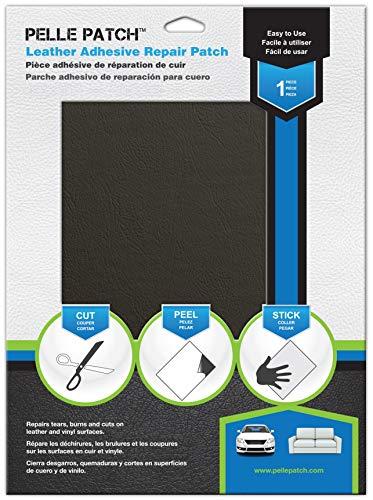 Pelle Patch Pièce adhésive de réparation de Cuir et Vinyle (Vert Foncé)
