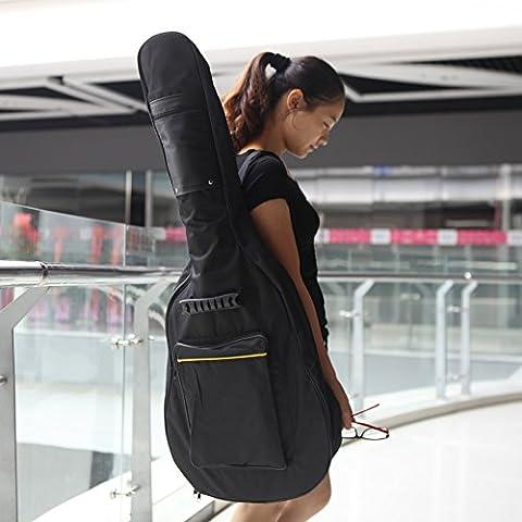 Andoer® 600D Sumergible Funda Mochila Tirantes Bolsillos con 5mm Algodón Acolchado Negro para 39/40 /41in