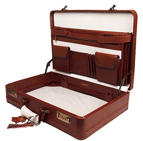 Hohe Qualität Echte Leder Aktentasche Executive Business-Tasche Arbeit Aktentasche New -