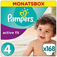 Pampers Active Fit Gr.4, Maxi 8-16kg, Monatsbox