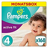 Pampers Active Fit Windeln Gr. 4 8-16kg Monatsbox 168 St.