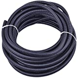 Pranovo 30 Ft Dog Cat Cord Protector Cable Protect Electric Wires Covers Long Split Wire Loom Tubing Prevent Chewing For Dog Cat Puppy Kitten Pet Rabbit