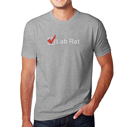 Planet Nerd - Lab Rat - Herren T-Shirt Grau Meliert