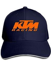 Hittings Biotio KTM Racing Sandwich Peaked Baseball Caps/Hats Adjustable For Unisex Navy