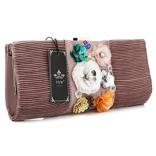 YYW Evening Bag, Poschette giorno donna Pink