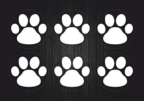 Set-6x-Autocollant-sticker-macbook-laptop-voiture-moto-patte-chien-chat-blanc
