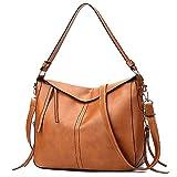 Schultertasche Damen Volltonfarbe soft Leder Crossbody Taschen Elegant Handtaschen Freizeitrucksack Abendtaschen FantaisieZ