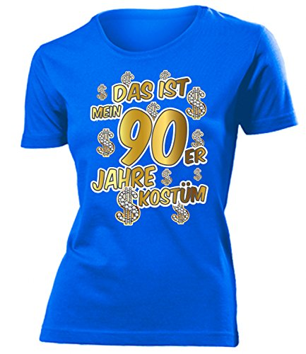 Das ist mein 90er Jahre Kostüm 4524 Damen T-Shirt (F-B) Gr. L (Halloween-kostüm-t-shirts)