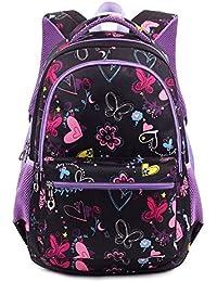 c0f1a972457c0 Termichy Mode Kinder Teenager Mädchen Schulrucksack Leichte Schule Tasche  Blumen Floral…