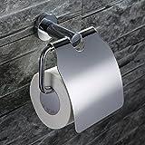 Homelody SS304 Edelstahl hochwertiger Klopapierhalter Toilettenpapierrollenhalter WC-Papierhalter Rollenhalter Wand Wandrollenhalter Bad Toilettenpapierhalter mit Deckel