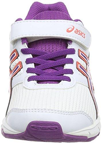 Asics Pre Galaxy 8 PS Scarpe da Corsa, Unisex Bambino Bianco (White/Grape/Living Coral 0136)