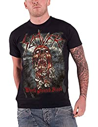 Slayer World Painted Blood Skeleton Official Mens Black T Shirt S