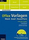 Office Vorlagen: Word - Excel - PowerPoint - Das Vorlagenpaket, DVD-ROM 5.000 Office-Vorlagen. Fertig gestaltet und sofort einsetzbar! Geeignet für Office 2013, 2010, 2007, 2003, XP, 2000
