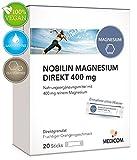 MEDICOM NOBILIN Magnesium Direkt 20 Sticks - 400 mg reines Magnesiumcitrat als fruchtiges Direktgranulat • einfache Einnahme