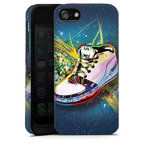 Apple iPhone 5s Housse Étui Protection Coque Chaussures Chaussures Baskets Cas Tough terne