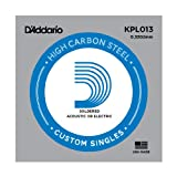 D'Addario Kaplan Soldered Twist Plain Steel Singles (.008-.020).013