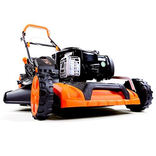 FUXTEC Benzin Rasenmäher FX-RM20BS mit 51 cm GT Selbstantrieb B&S Motor Easy Clean Briggs Stratton Motormäher 4in1 Mulchen