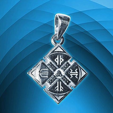 Talisman Amulet vichingo Shield - Scudo Odin argento Sterling