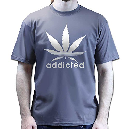 Addicted Cannabis Sativa Legalise Dope Sports T-shirt Dunkelgrau