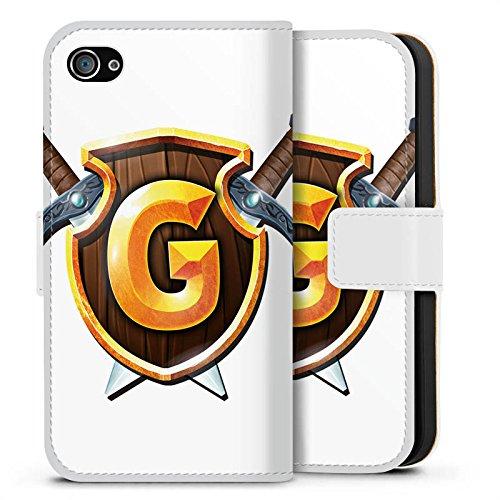 Apple iPhone X Silikon Hülle Case Schutzhülle GommeHD Fanartikel Merchandise Wappen weiß Sideflip Tasche weiß