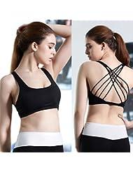 Cruz, diseño de mujer espalda sujetador deportivo Top de danza chaleco Yoga sujetador