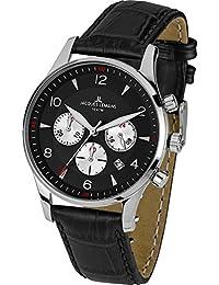 Jacques Lemans Herren-Armbanduhr XL London Chronograph Quarz Leder 1-1654A