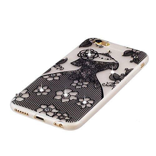 Etui iPhone 6 Plus, Coque iPhone 6 Plus Silicone, SpiritSun Etui Coque TPU Slim Bumper pour Apple iPhone 6 Plus / 6S Plus (5.5 pouces) Souple Lumineux Etui Housse de Protection Flexible Soft Case Cas  Robe