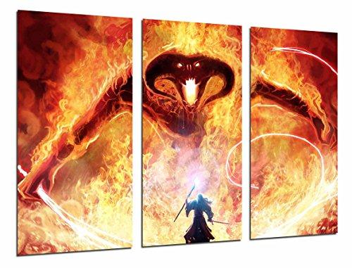 Poster Fotográfico Gandalf lucha demonio fuego Tamaño