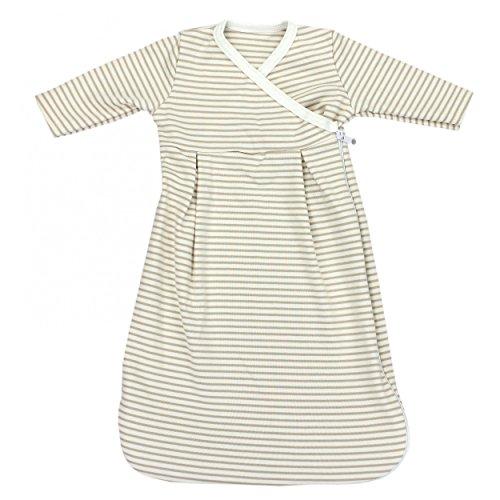 Baby Innenschlafsack 100% Baumwolle Langarm Innensack für Schlafsack, Farbe: Streifenmuster Beige, Größe: 50/56