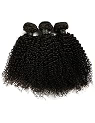 "BLISSHAIR Lot de 3 Bresilienne Virgin Hair Baby Deep 12"" court cheveux Bresilienne vierges de Tissages Lot de 200 g/Extensions de cheveux humains"