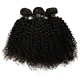 BLISSHAIR Lot de 3 Bresilienne Virgin Hair Baby Deep 12' court cheveux Bresilienne vierges de Tissages Lot de 200 g/Extensions de cheveux humains