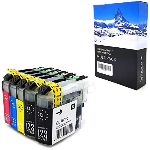5XL Druckerpatronen mit Neusten Chip kompatibel zu Brother LC123 LC125 LC121 für Brother DCP-J552DW MFC-J470DW J650DW J870DW J132W J152W J172W J752DW J4110DW J245 J4410DW J4510DW J4610DW J4710DW J6520DW J6720DW J6920DW