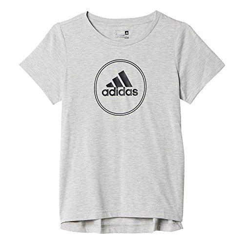 adidas Damen T-Shirt Boxy Logo Tee, Grau, S