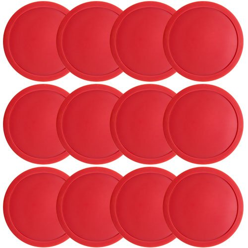 Red Air Hockey Puck (One dozen Large 3 1/4 inch Red Air Hockey Pucks for Full Size Air Hockey Tables by Brybelly by Brybelly)
